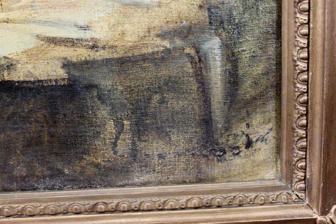 19 Century Austrian Oil On Canvas Painting By Eduard - 3