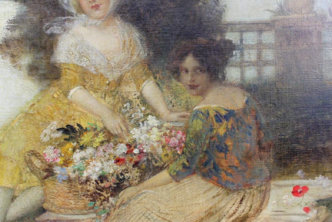 19 Century Austrian Oil On Canvas Painting By Eduard - 5
