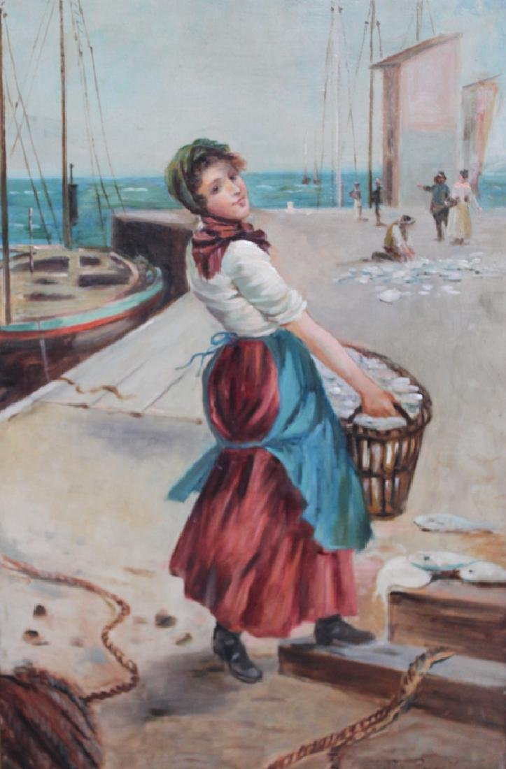 British Oil on Canvas Painting by Henry Childe Pocock - 2