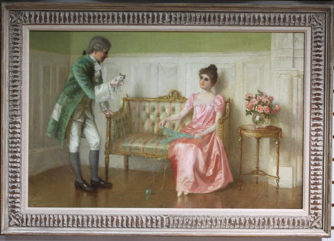 Oil On Canvas American Painting by Evans De Scott.
