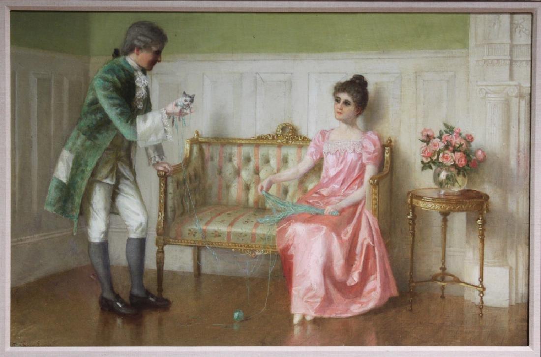 Oil On Canvas American Painting by Evans De Scott. - 2