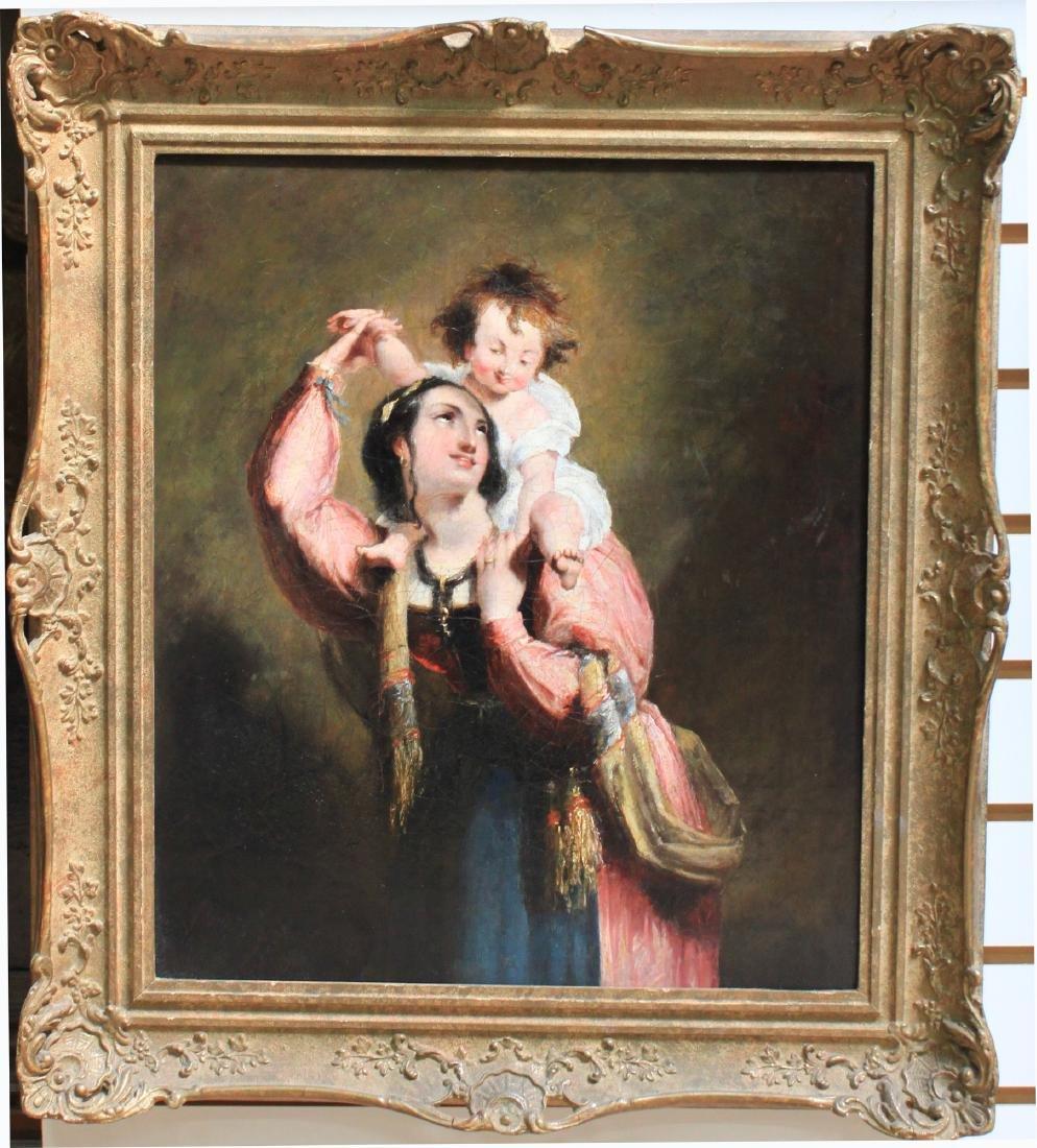 19 Century European Oil on Canvas Painting