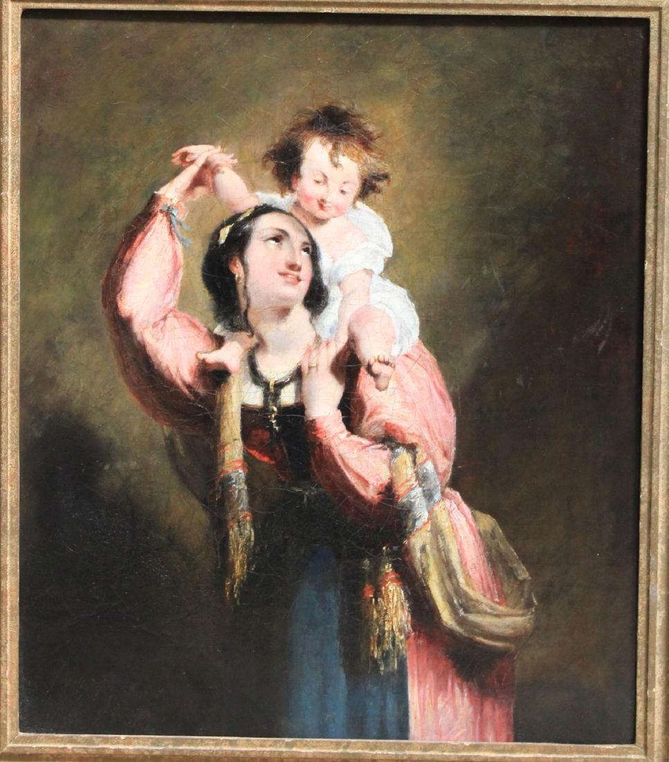 19 Century European Oil on Canvas Painting - 2