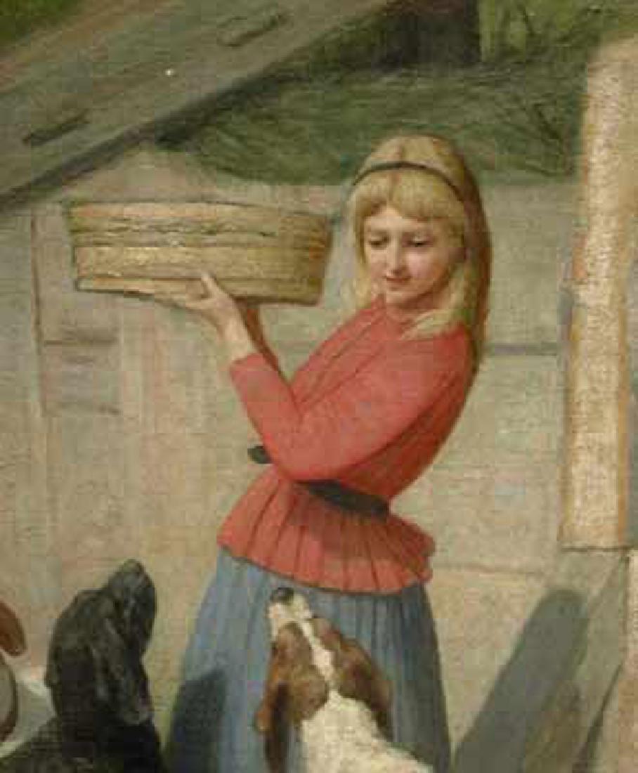 19 Century German Oil on Canvas Painting By Albert - 2