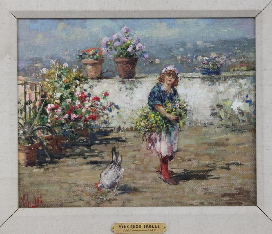 Italian Oil On Canvas Painting By Vincenzo Irolli - 2