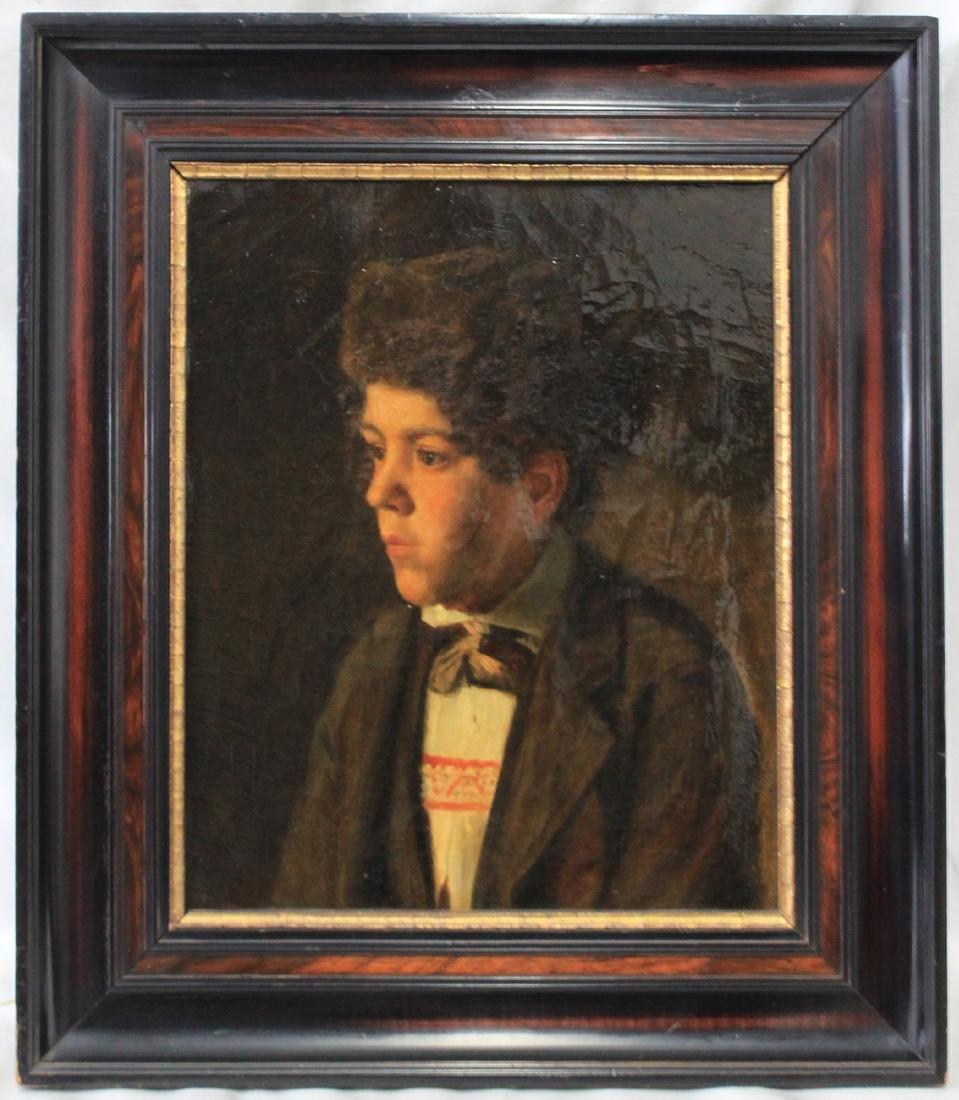 19 Century European Oil On Canvas Jewish Student