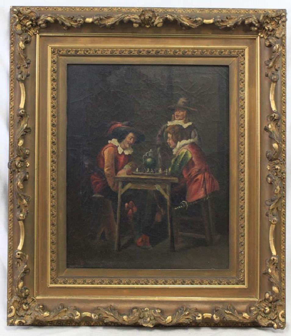 19 Century oil on canvas European painting