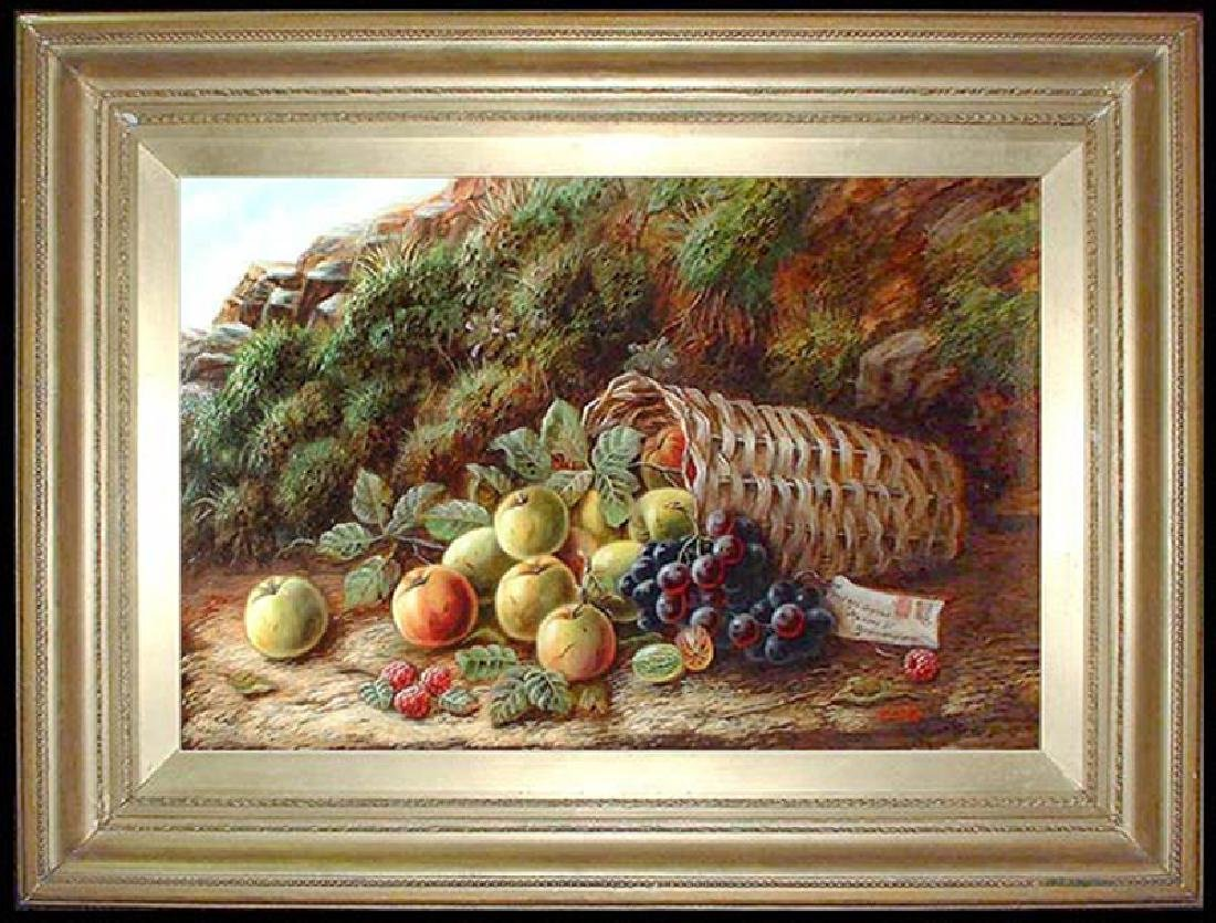 Late 19th Century Oil on Board Painting By E L Poole