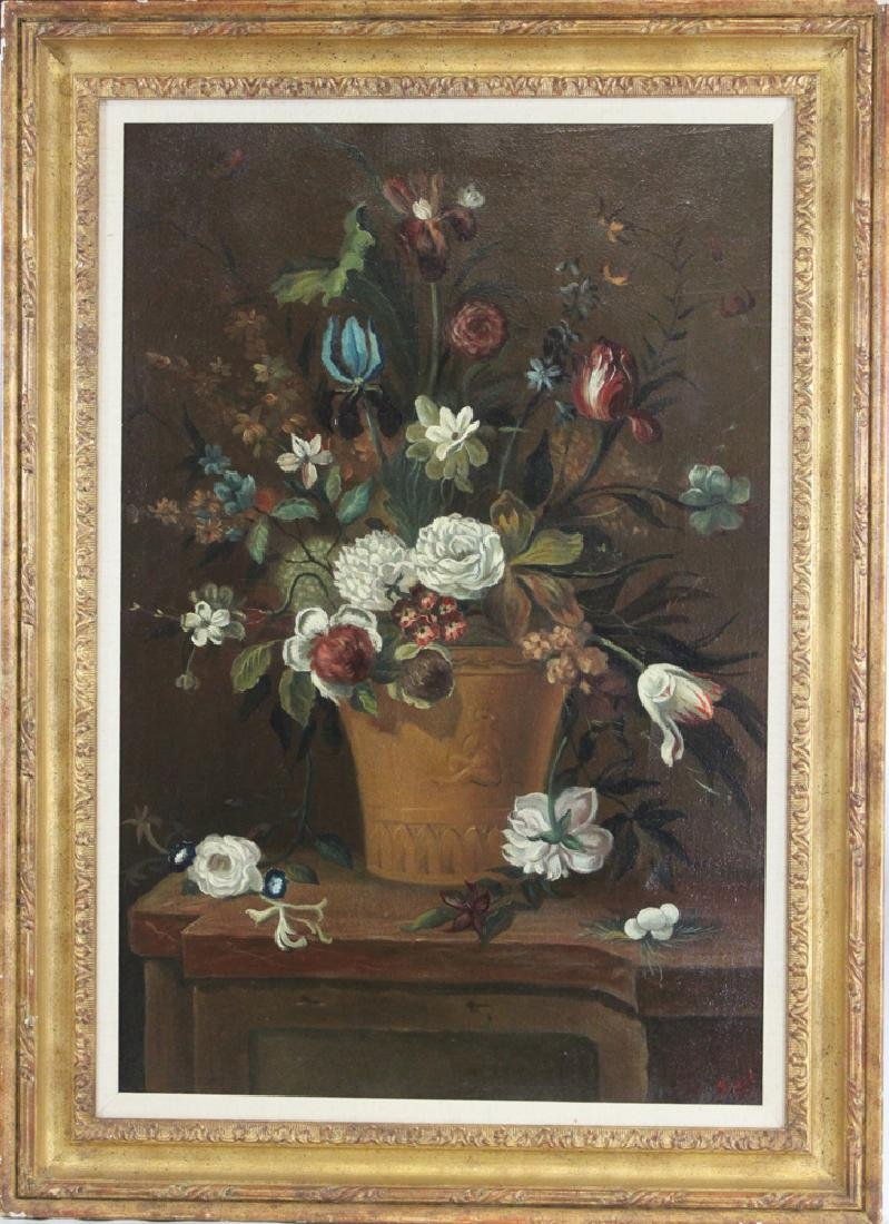 Oil on Canvas Spanish Still Life Painting by Ira Monte,