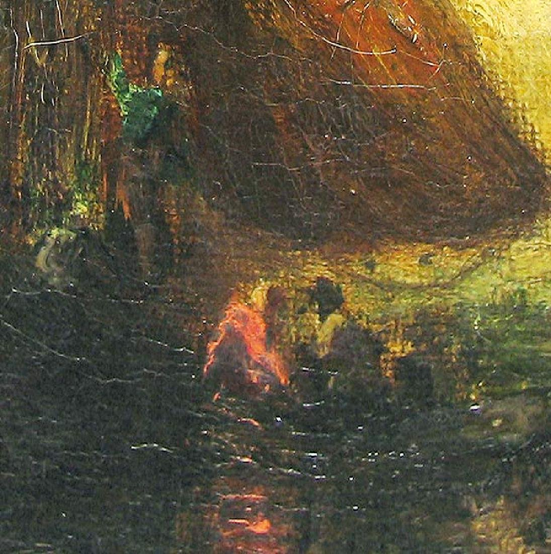 19 Century Oil On Canvas Painting Signed - 2