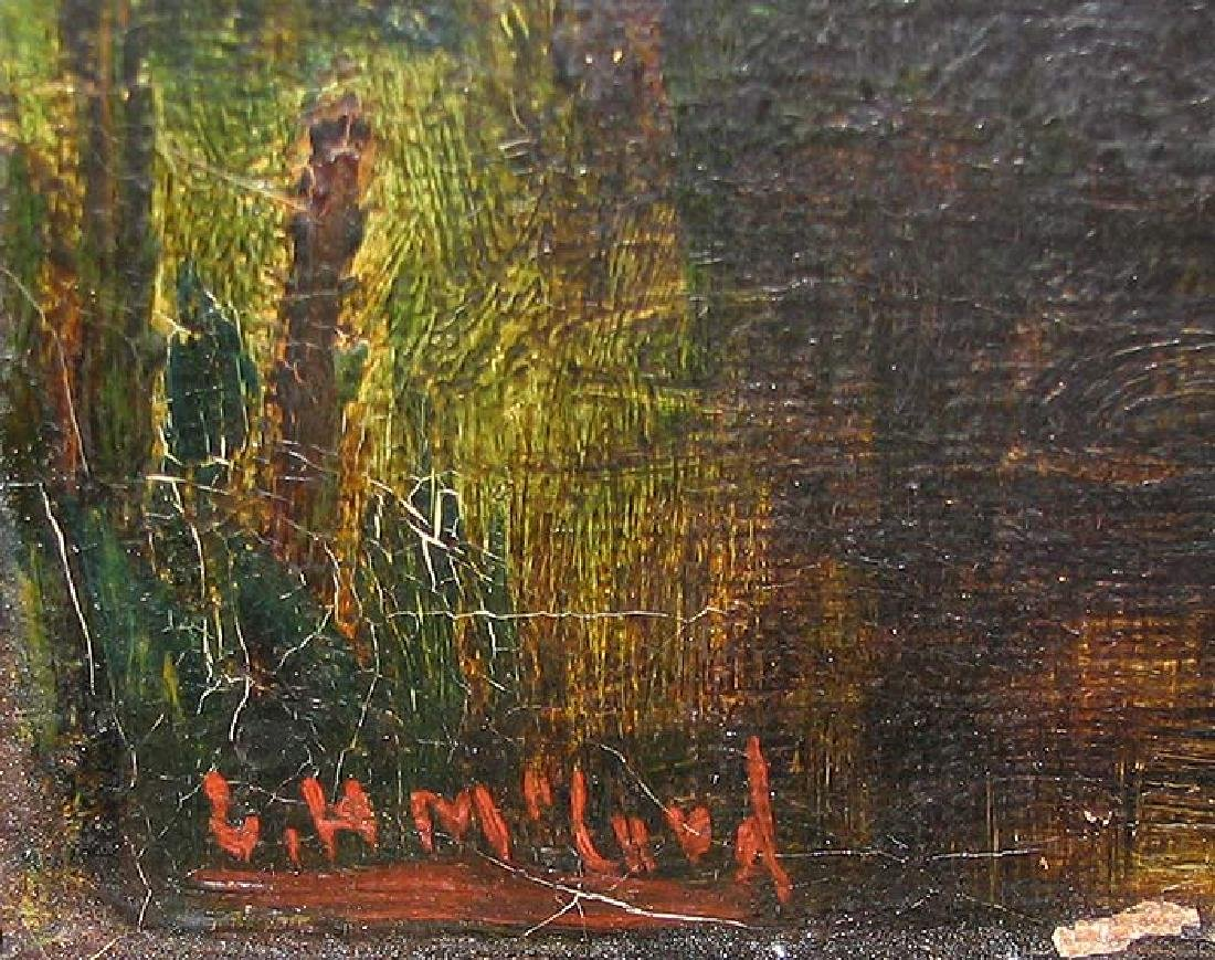 19 Century Oil On Canvas Painting Signed - 4