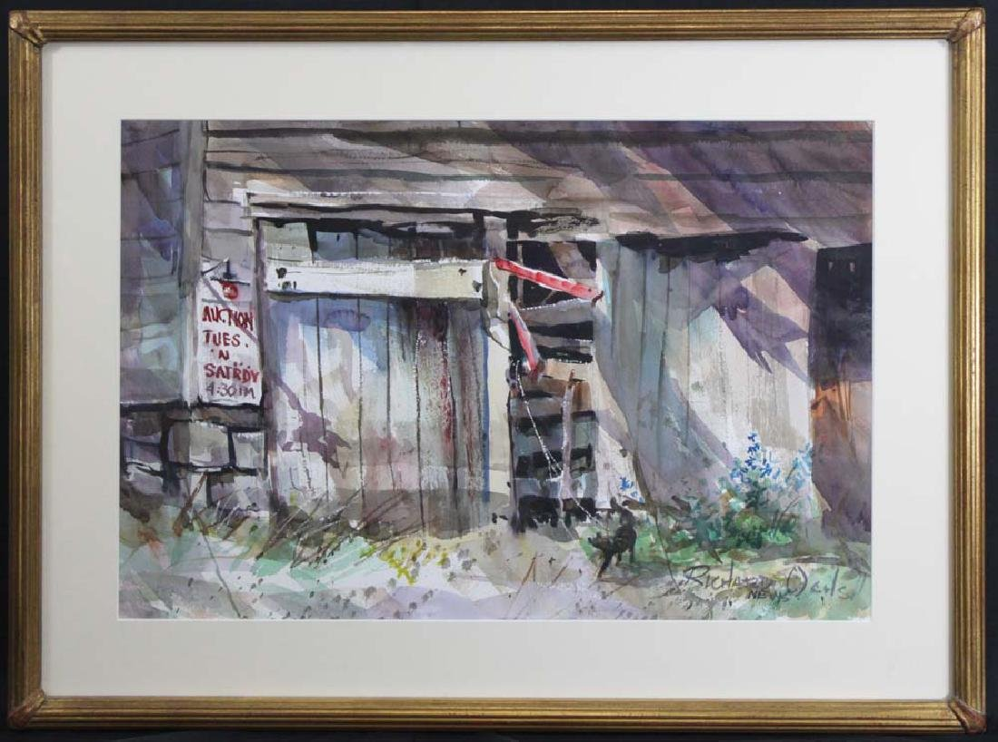 Modern watercolor on paper by Richard Ochs