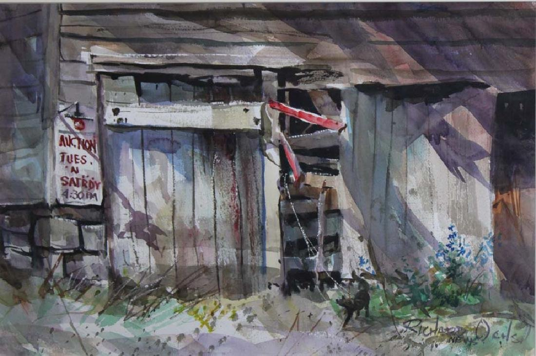 Modern watercolor on paper by Richard Ochs - 2