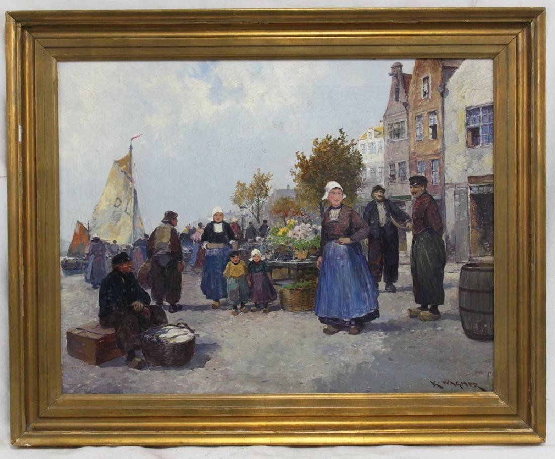 19 Century German Oil on Canvas Painting by  Karl