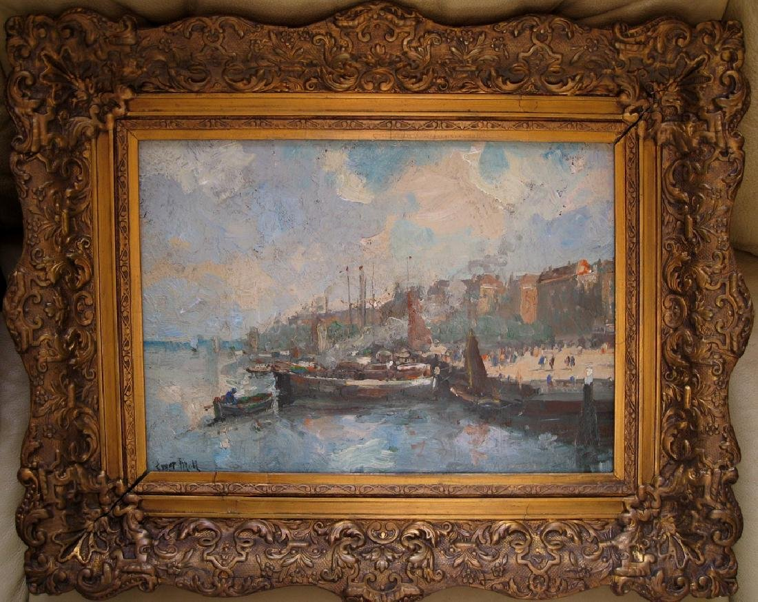Late 19 early 20th century Dutch oil painting by Evert