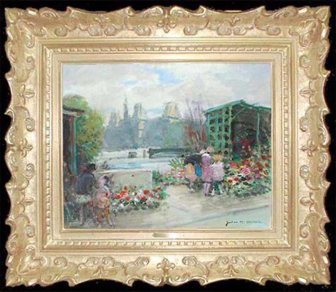 Oil On Canvas French Painting by Jules Rene Herve