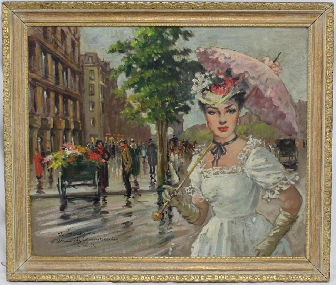 Early 20th Century Oil On Canvas Painting By Francois
