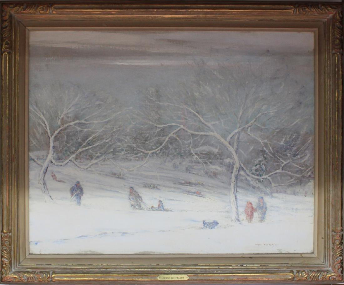 American Oil on Canvas Painting by Johann Berthelsen