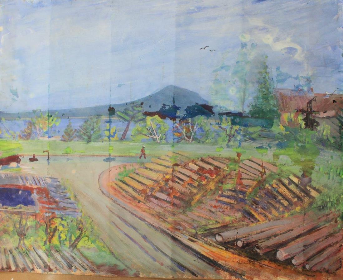 BORENSTEIN Sam (Samuel) 1908-1969 Landscape Painting