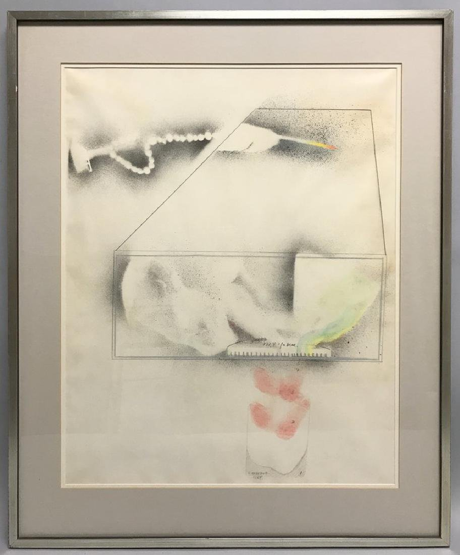 Shusaku Arakawa Modern Mixed Media Watercolor on Paper