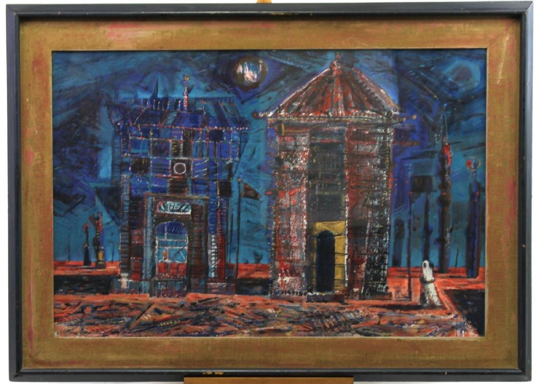 American Gouache on Board Painting by Wayne Thiebaud