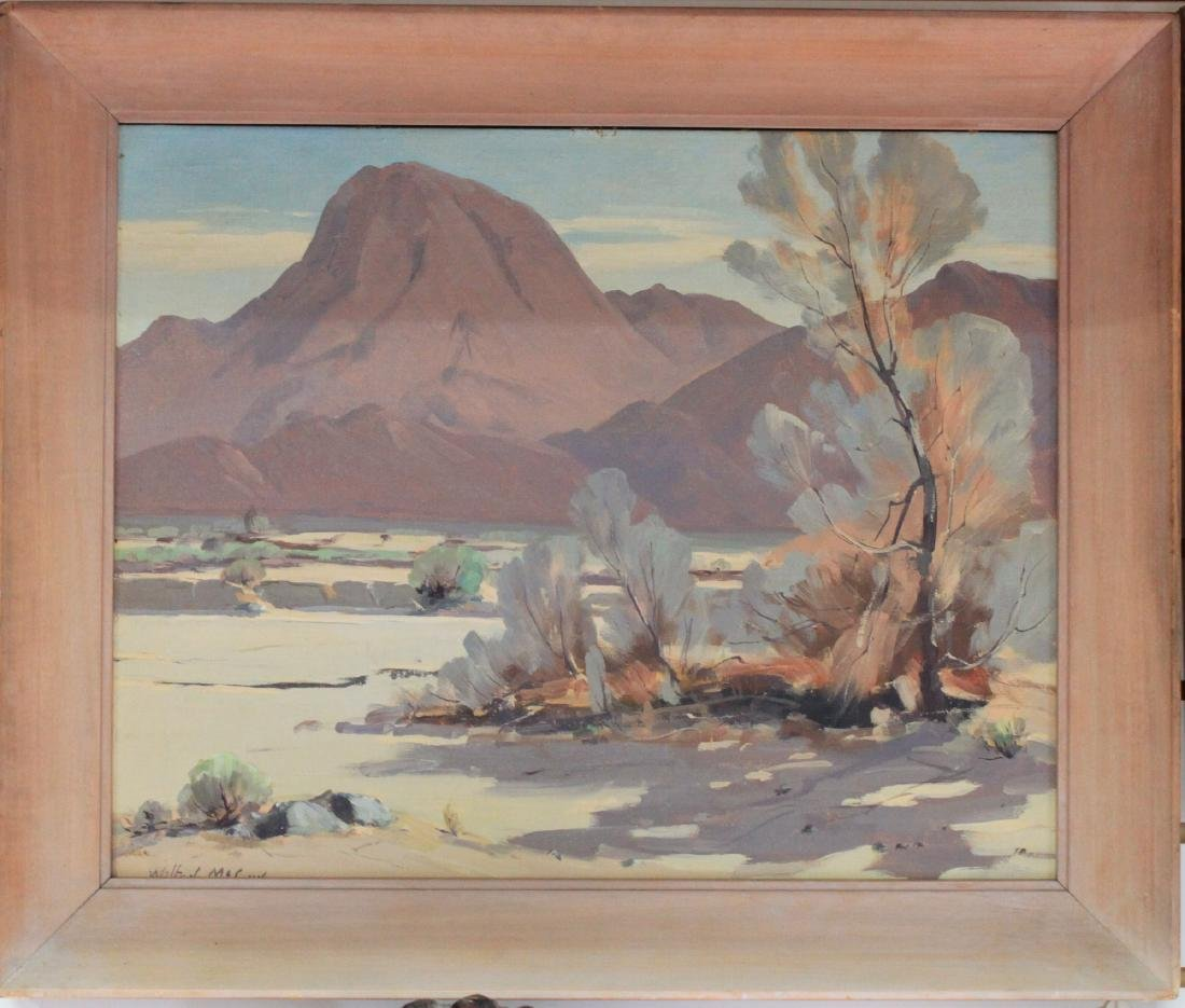 American Oil on Canvas Board painting by Wilton Charles