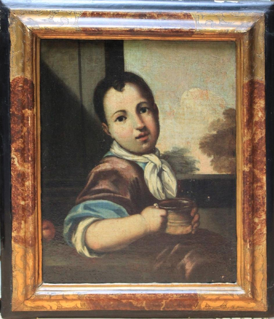 Italian Oil on Canvas Painting Circle Antonio Amorosi