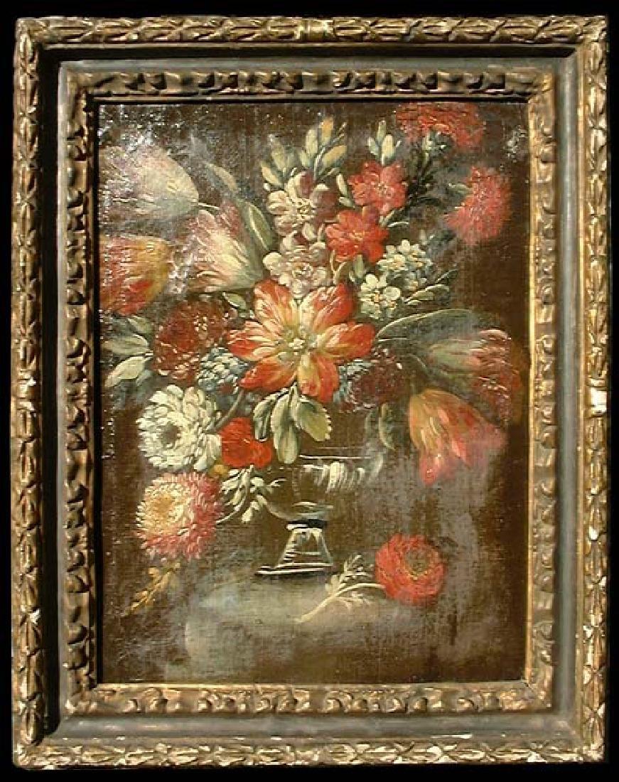 18 Century Oil On Canvas Painting.