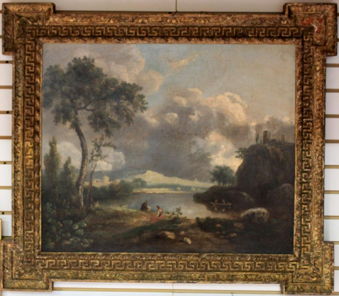 18 Century English Attributed to Richard Wilson, Oil on