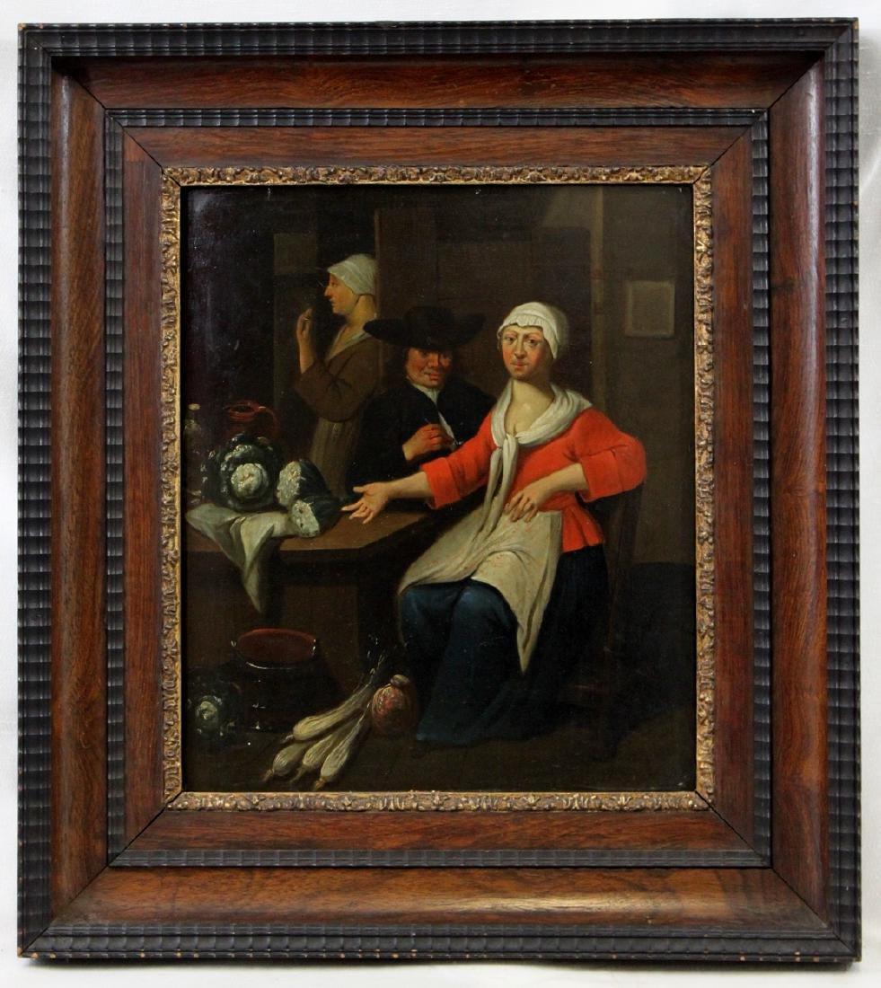 17 Century Dutch Oil on Panel Painting