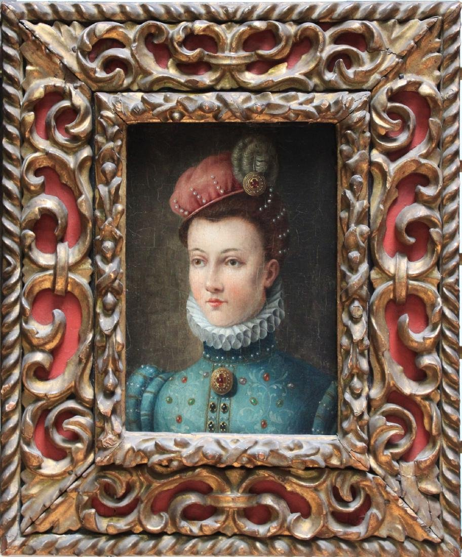 16 Century Oil on Panel Painting Attributed to Francois