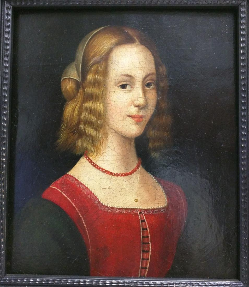 17th Century Dutch School Oil on Board Portrait of