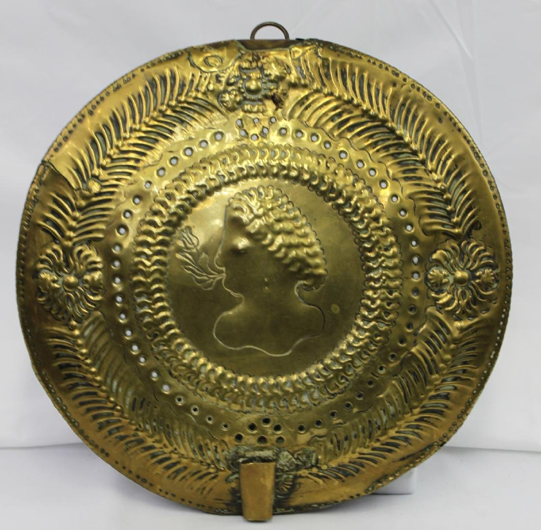 16th Century German or Dutch Brass Plaque