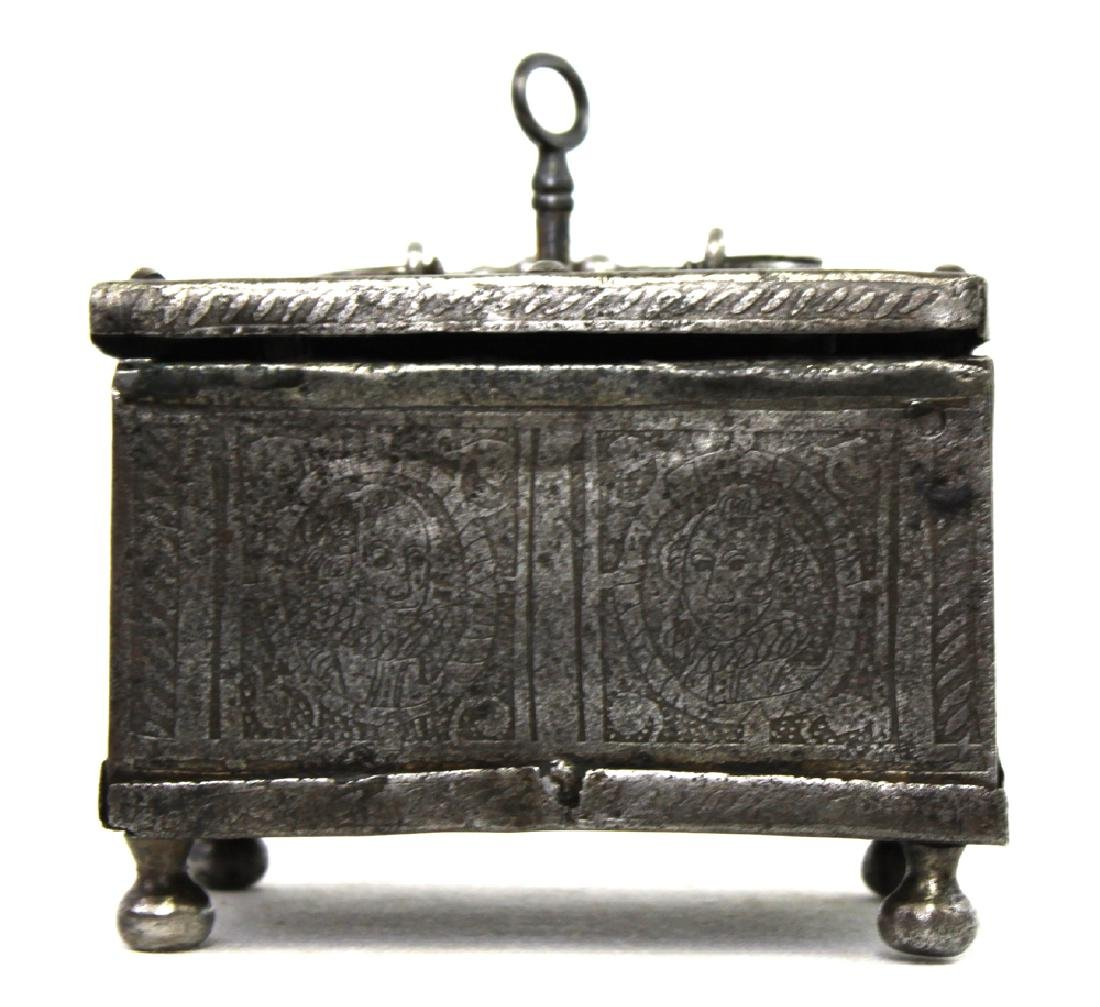 Etched 17 century Steel Box