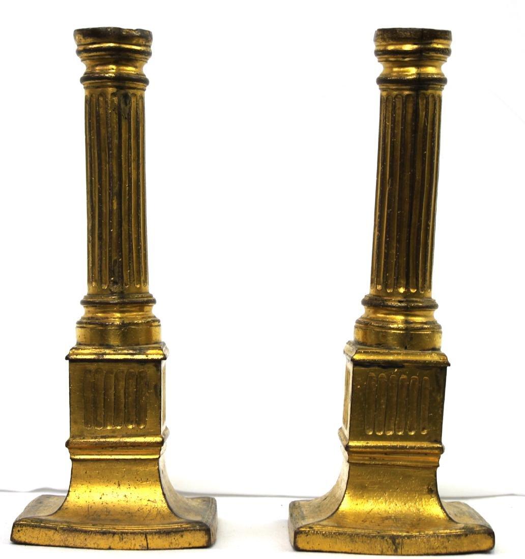 Pair 18 Century Bronze Candlestick