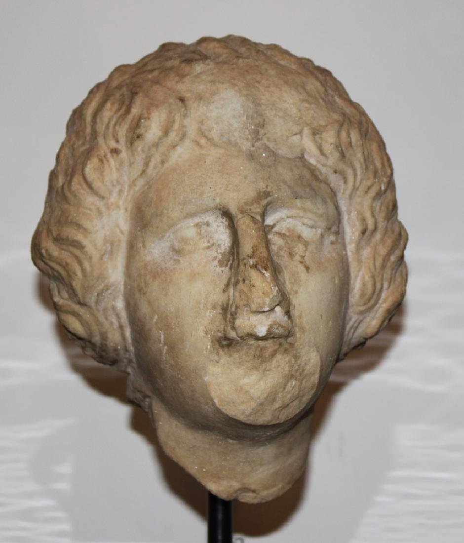 A Roman Marble Portrait Head of a Lady