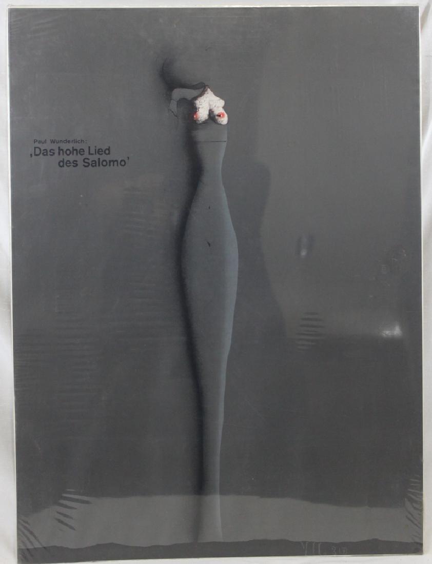 """Poster. """"Paul Wunderlich: Das hohe Lied Des Salomo"""""""