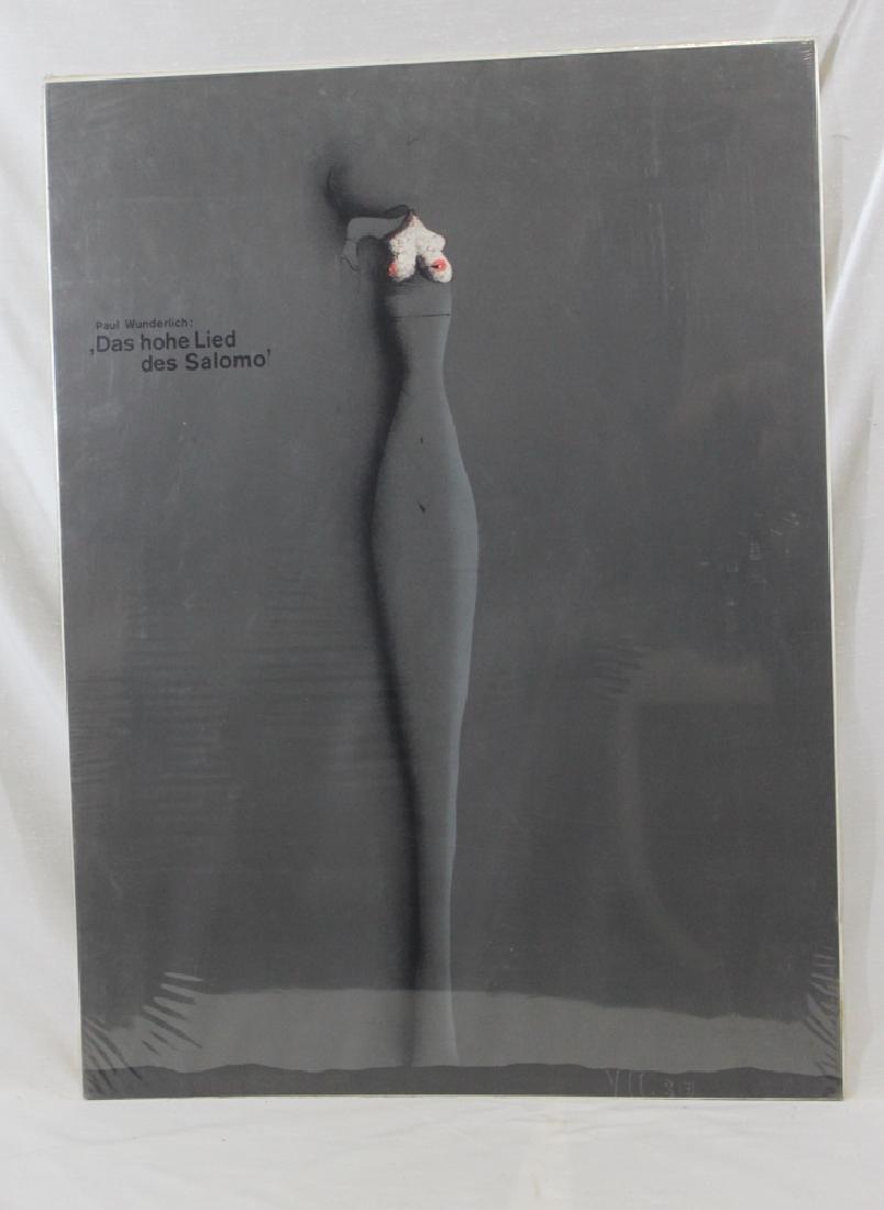 """Poster. """"Paul Wunderlich: Das hohe Lied Des Salomo"""" - 2"""