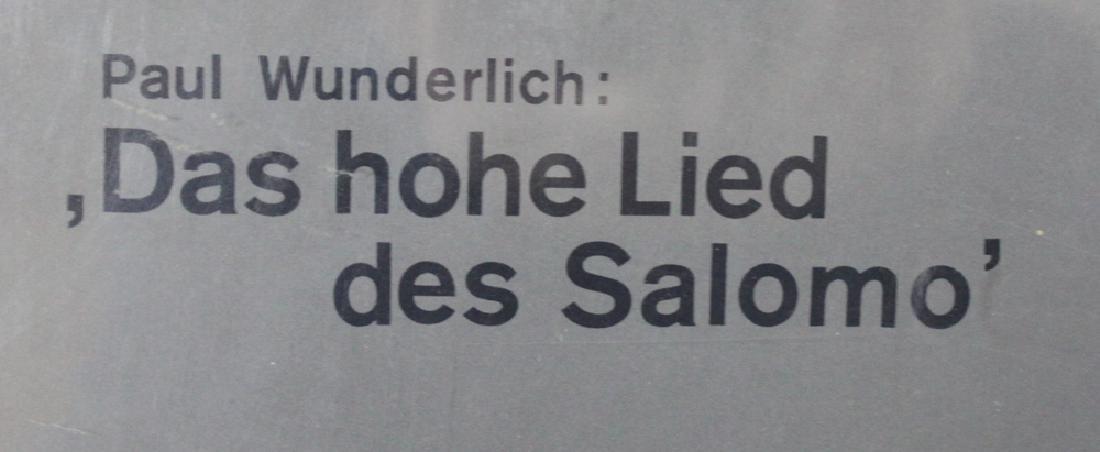 """Poster. """"Paul Wunderlich: Das hohe Lied Des Salomo"""" - 4"""