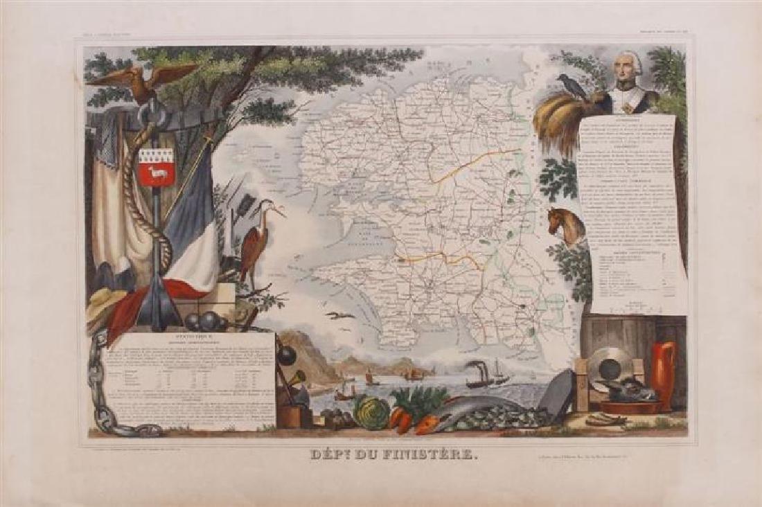 French School: Dépt. Du Finistère , from Atlas National