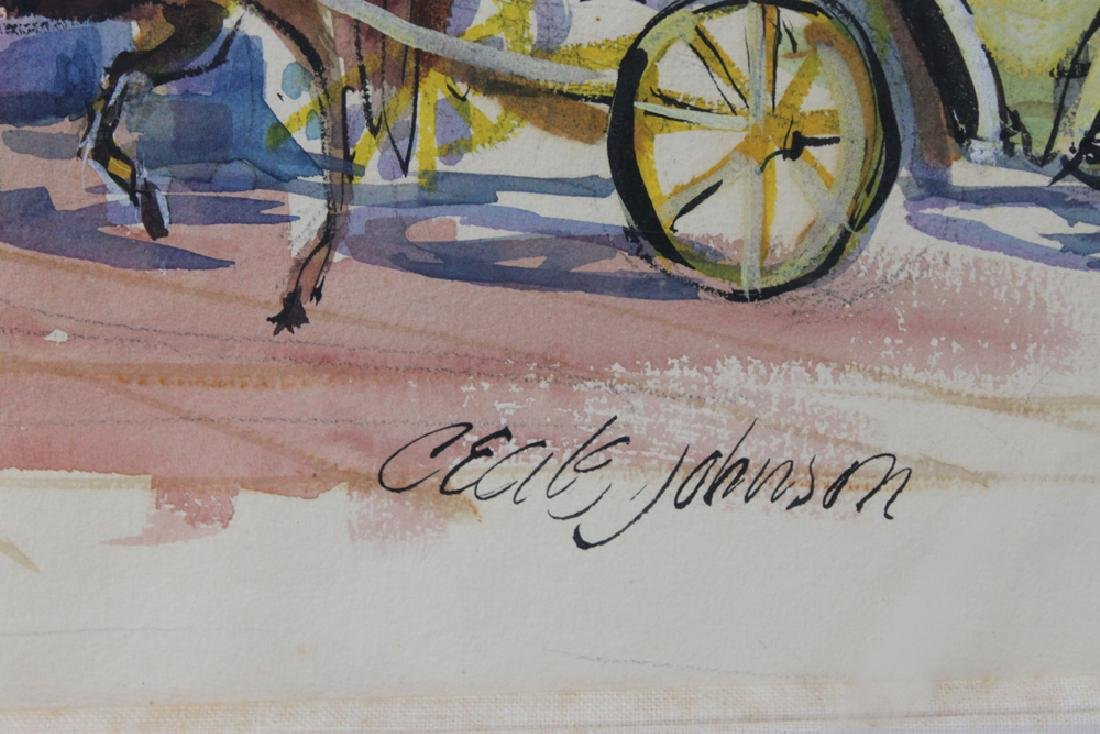 American Watercolor Painting by Cecile Johnson - 4