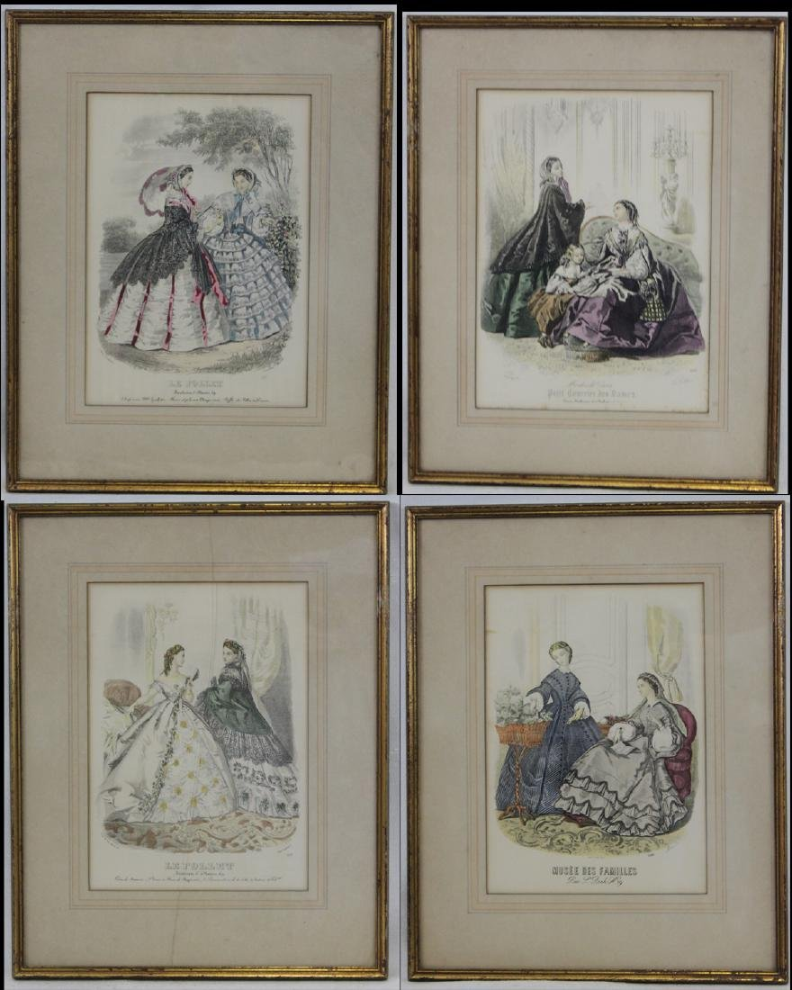 Group of Four 19th Century Prints