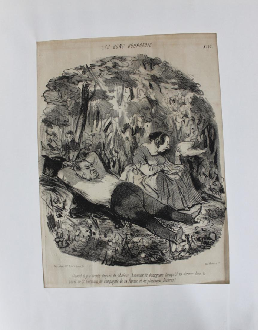 1840's  French Honore Daumier Lithograph