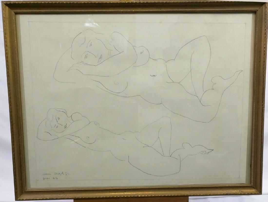 Pencil Drawing After Henri Matisse