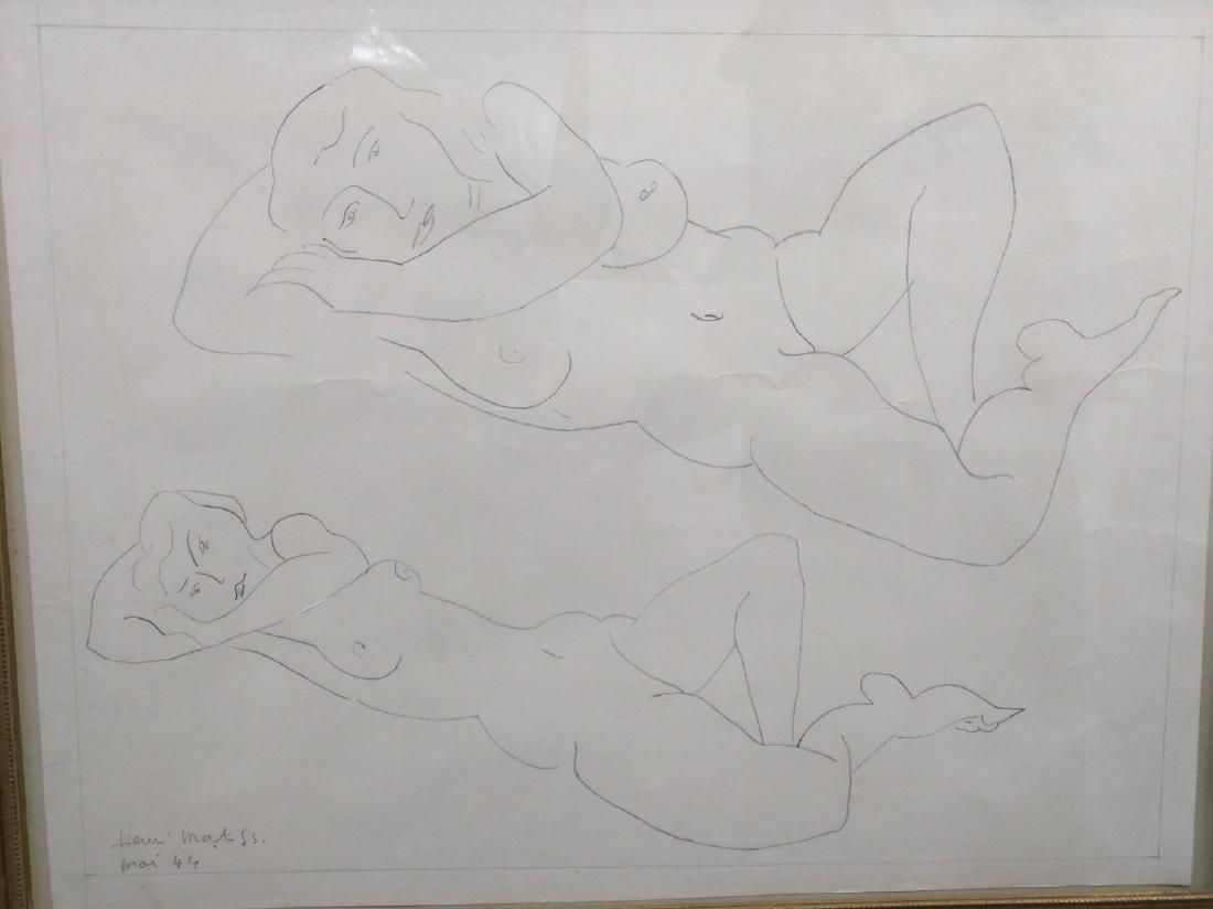 Pencil Drawing After Henri Matisse - 2