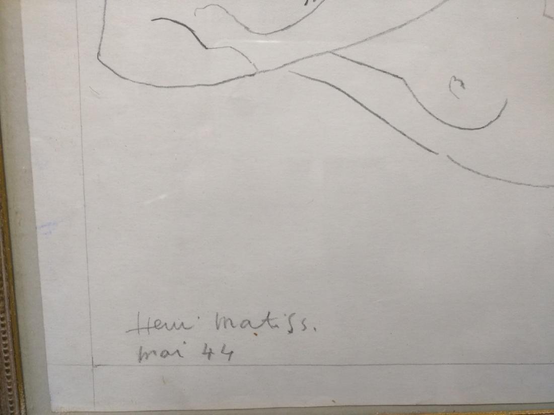 Pencil Drawing After Henri Matisse - 3