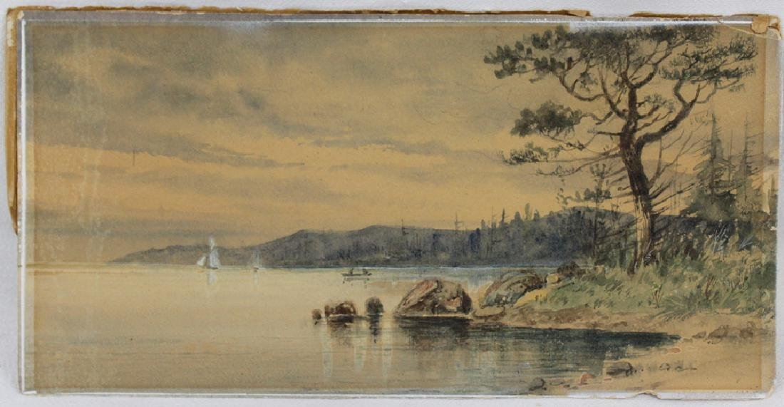 American watercolor on paper landscape scene