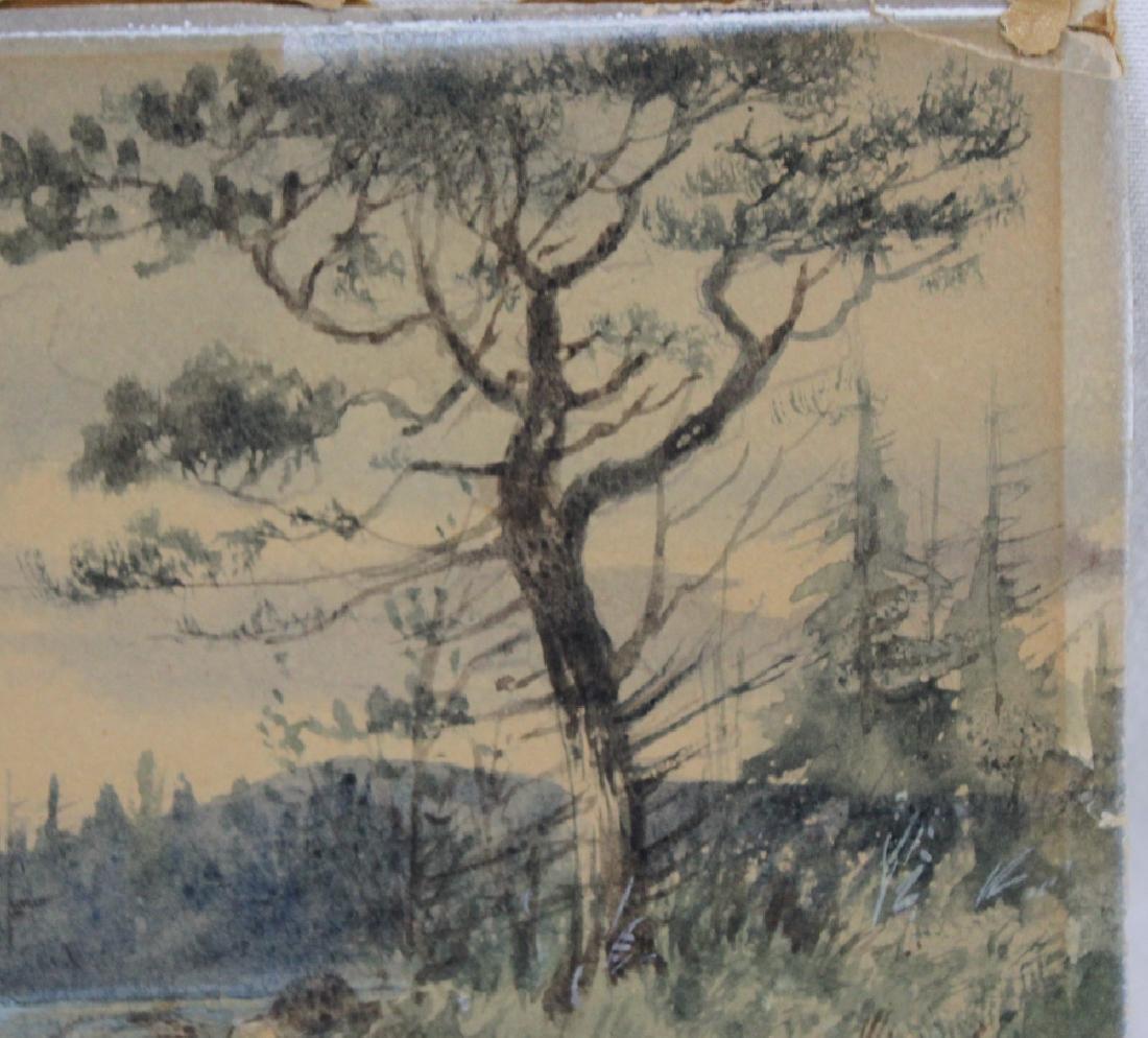 American watercolor on paper landscape scene - 2