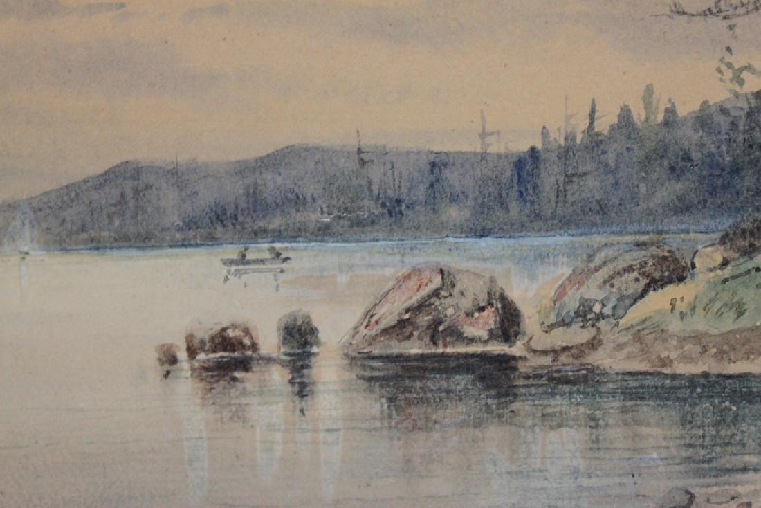 American watercolor on paper landscape scene - 3