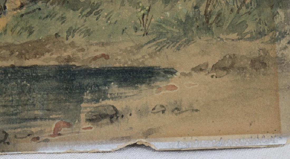 American watercolor on paper landscape scene - 4